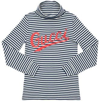 Gucci Logo Striped Cotton Jersey T-Shirt