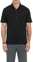Massimo Alba Men's Linen Piqué Polo Shirt-NAVY