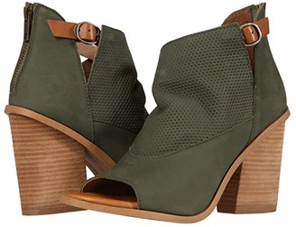 Diba True Hot Dice (Olive/Tan) Women's Shoes