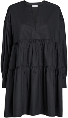 Anine Bing Addison Poplin Mini Swing Dress
