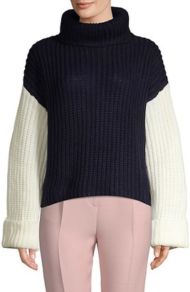 Avantlook Oversized Three-Tone Slouchy Sweater