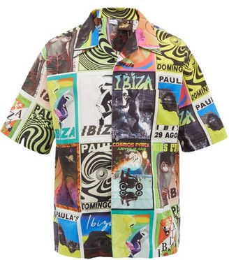 Loewe Paula's Ibiza - Psychedelic Flyer-print Cotton Shirt - Mens - Multi
