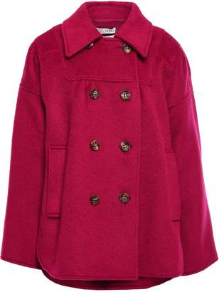 RED Valentino Double-breasted Brushed-felt Coat