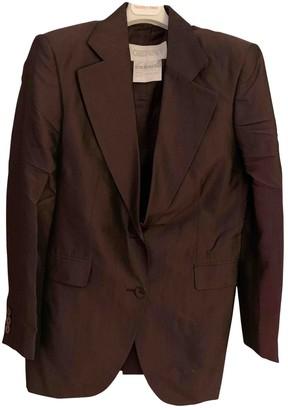 Genny Burgundy Silk Jacket for Women Vintage