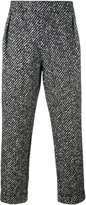 Emporio Armani textured trousers