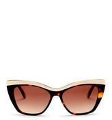 L.A.M.B. Women&s Full Rim Cat Eye Sunglasses