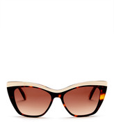 L.A.M.B. Women's Full Rim Cat Eye Sunglasses