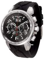 Jorg Gray Men's Quartz Watch with Black Dial Chronograph Display and Black Silicone Strap JG5600-21