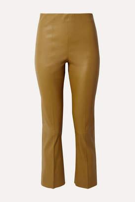 By Malene Birger Florentina Leather Slim-leg Pants - Mustard