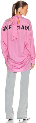 Balenciaga Swing Shirt in Pink | FWRD