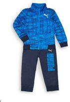 Puma Little Boy's Two-Piece Zip-Front Jacket & Pants Set