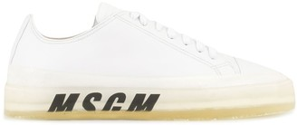 MSGM Low-Top Logo-Print Sneakers