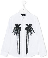 DSQUARED2 palm print shirt - kids - Cotton - 4 yrs