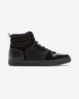 Express Suede Mesh Hightop Sneakers