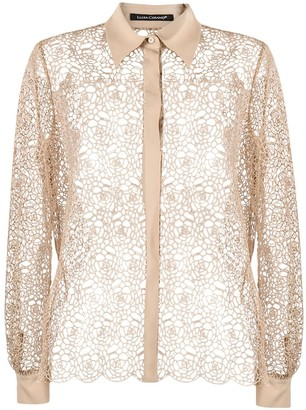 Luisa Cerano Sheer Patterned Shirt