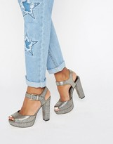 Head Over Heels By Dune Myli Gold Platform Heeled Sandals