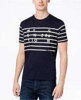 Ben Sherman Men's Slim-Fit Striped Graphic T-Shirt