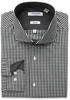 Isaac Mizrahi Men's Slim Fit Classic Gingham Cut Away Collar Dress Shirt