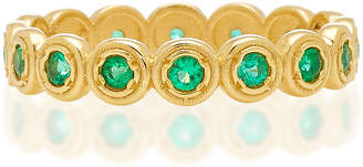 Octavia Elizabeth Nesting Gem Emerald and 18K Gold Eternity Ring