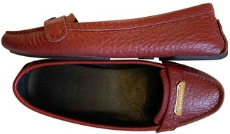 Burberry Red Leather Flats