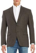 Lauren Ralph Lauren 2-Button Wool Houndstooth Blazer