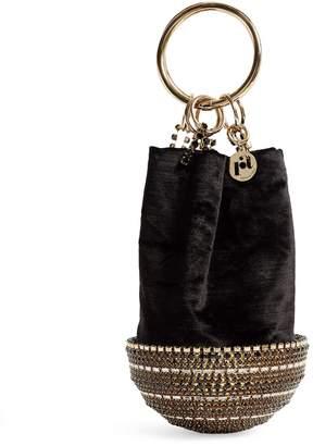 Rosantica Ghizlan Crystal Top-Handle Bag