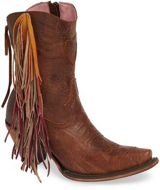 Lane Boots x Junk Gypsy Fringe Western Bootie