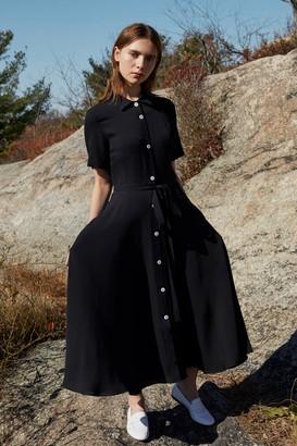 Mansur Gavriel Silk Shirt Dress - Black