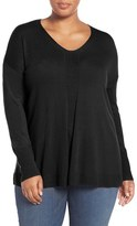 Sejour Plus Size Women's V-Neck Sweater