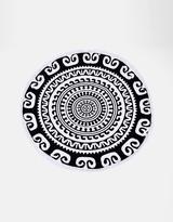 Geometric Round Towel