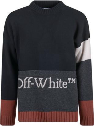 Off-White Color Block Crewneck Sweater