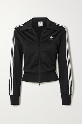 adidas Firebird Striped Tech-jersey Track Jacket - Black