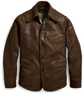 Mens Leather Car Coat - ShopStyle