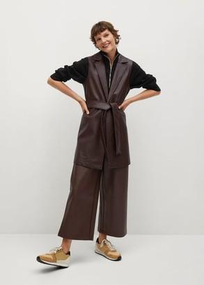 MANGO Faux-leather gilet