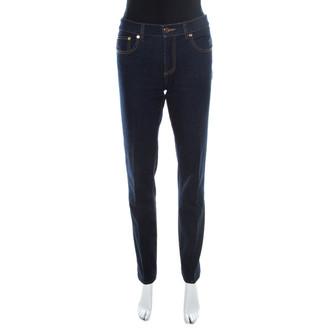 Tory Burch Blue Dark Wash Denim Straight Cut Jeans L