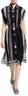 Derek Lam Sleeveless Provincial Striped Dress
