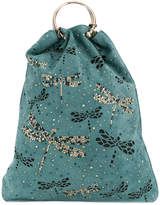 RED Valentino embellished dragonfly tote
