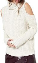 Miss Selfridge Cold-Shoulder Turtleneck Sweater