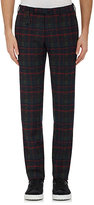 Incotex MEN'S PLAID TROUSERS-GREEN, RED SIZE 36