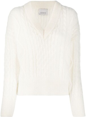 Laneus Lightweight Cable Knit Jumper