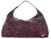 Bottega Veneta Leopard Print Travel Pouch