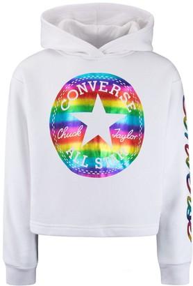 Converse Girls 7-16 Rainbow Logo Hoodie