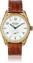Nixon Men's C39 Leather Watch-GREEN