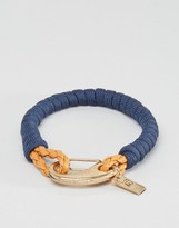 ICON BRAND Rope Clasp Bracelet In Navy