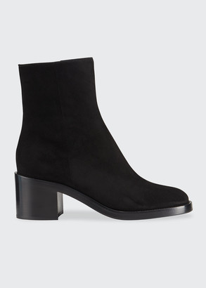 Gianvito Rossi 70mm Suede Ankle Booties