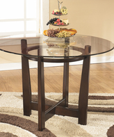 Signature Design by Ashley Medium Brown Charrell Round Dining Room Table