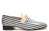 Joseph Striped leather loafers