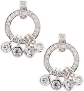 Kenneth Jay Lane CZ by CZ Pave Circle Earrings