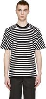 08sircus Black & White Striped T-Shirt