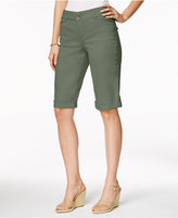 Charter Club Petite Cuffed Bermuda Shorts, Only at Macy's